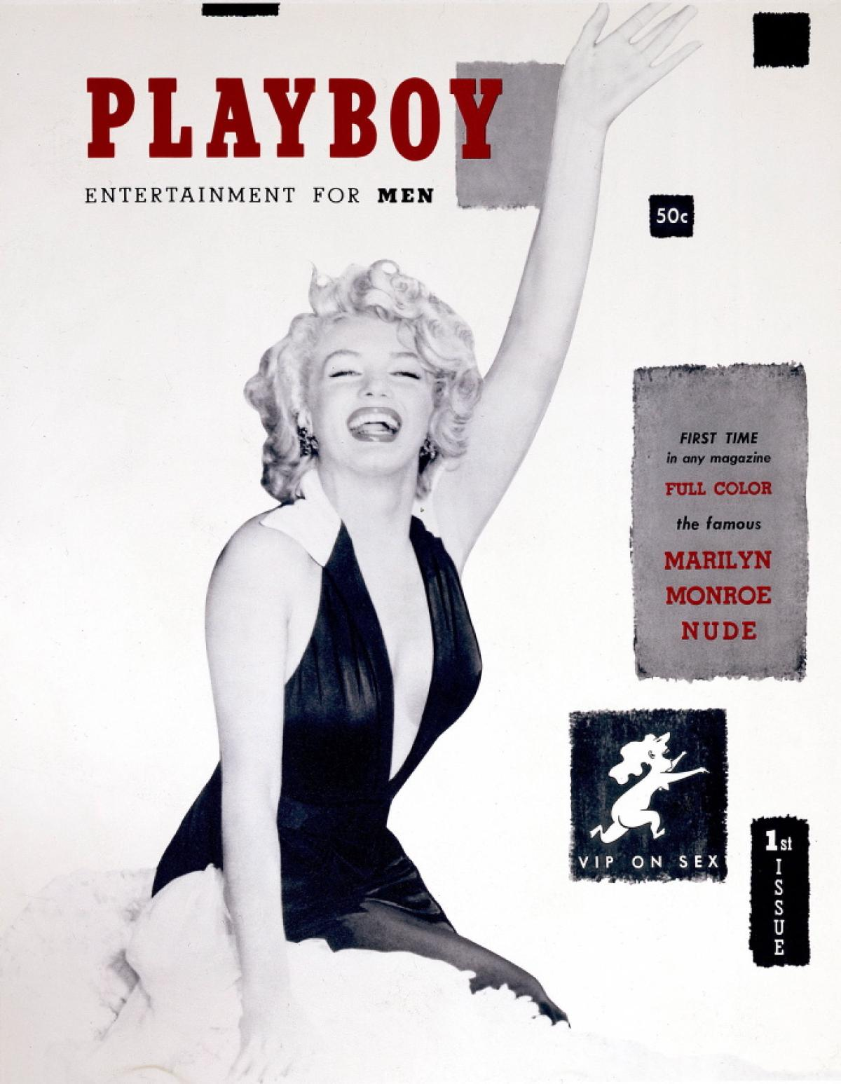 Marilyn Monroe on first Playboy Magazine cover.