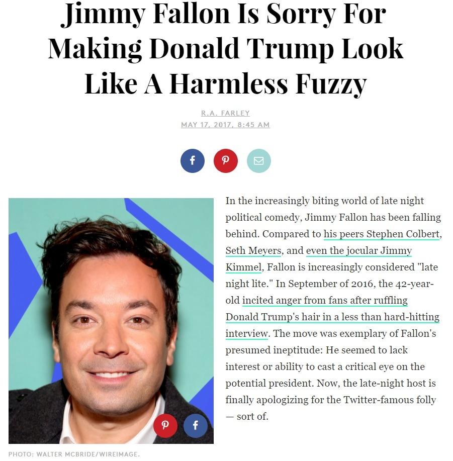 Jimmy Fallon apologizes about Trump